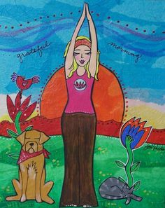 Stretching into Self Love (with art by Lori Portka) http://www.aliaindrawan.com/stretching-into-self-love/