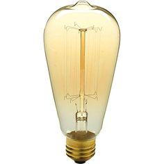 Progress Lighting 40-Watt ST64 Edison E26 Medium Base Vintage Amber Light Bulb