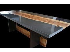wow what a table. concrete and wood. from concrete countertops.com