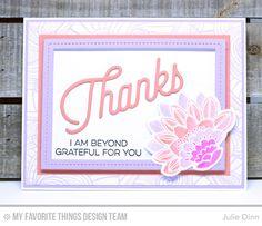 Fancy Flowers Card Kit - Julie Dinn  #mftstamps