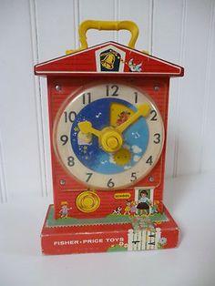 Toys 80's Fisher Price Clock