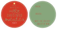 Family Ever After....: Guest Post:The Letter 4 {Ugly Sweater Invites}