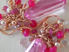 These are to die for! Stunning Rose Gold Pink Topaz Earrings  by WildIrishRoses on Etsy, $227.00