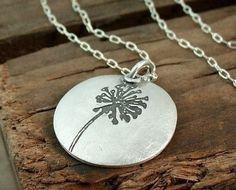 "Lulu Bug Jewelry  ""make a wish"" dandelion necklace"