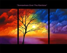 "wall art ""SOMEWHERE OVER THE RAINBOW"""