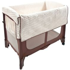 Co-sleeping is made easy with the Arm's Reach Mini Arc. Find more details as well as our other Best Bassinet picks here!
