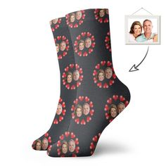 Custom Short Socks With Family Face Printing