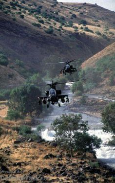 Israeli Air Force Apaches on patrol