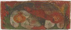 • TAVOLA V bis cm 45 x 19 x 2,4 IL LEGATO PONTIFICIO Il legno del retro è in buone condizioni, tranne per alcune lesioni, e presenta pochissimi fori di tarlo, mentre nella pellicola pittorica il pigmento rosso della tempera si spolvera con grande facilità, anche se le condizioni generali la fanno supporre resistente. È stata parzialmente eseguita la lavorazione del bordo inclinato per l'incastro anche sul lato di base della tavola. Figura maschile di profilo a sinistra, imberbe, dai capelli…