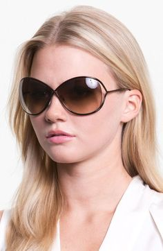 eb14cf5539f Tom Ford Miranda 68mm Open Temple Oversize Metal Sunglasses