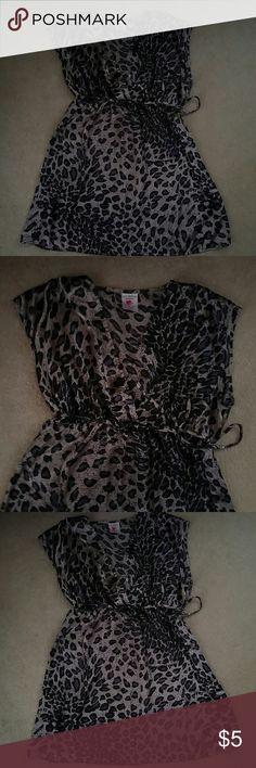 Super cute maternity pajamas Cute purple leopard print maternity nightie. Silk like feel. destination maternity  Intimates & Sleepwear