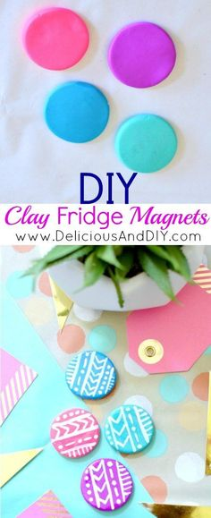 Clay Fridge Magnets Tutorial | Oven Bake Clay | Craft Ideas | DIY