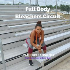 A full-body circuit workout you can do on any bleachers or large staircase. #fitness #workouts #fitlife
