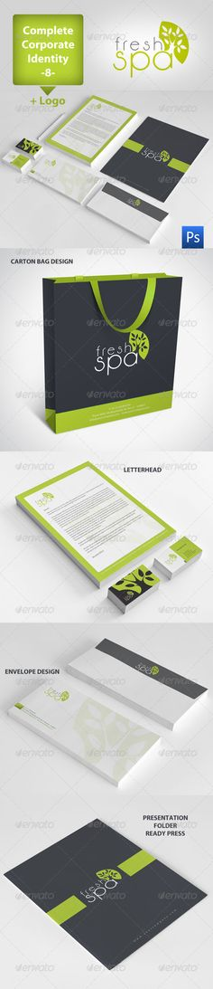 Fresh Spa Corporate Identity Package 8 - GraphicRiver Item for Sale