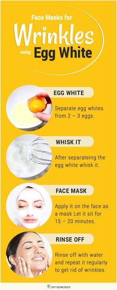 Egg White Face Masks for Wrinkles #homemadefacemasksforwrinkles #homemadefacemaskspeel