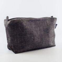 Large Cosmetic Bag, Black Linen Fabric Cosmetic Bag, Makeup Bag, Makeup bag, Travel Bag for Men, Large Travel Bag, Cosmetic Bag Pattern
