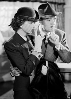 """Myrna Loy and William Powell in """"The Thin Man Goes Home"""", 1945"""