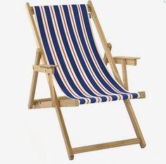 MONOQI | Beach Chair - Blue/White/Red