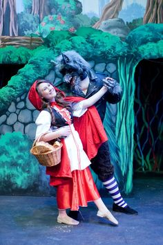 "Little Red and the Wolf in Wheaton Drama's ""Into the Woods"", playing May 17-June 9, 2013. Tickets at http://www.wheatondrama.org. Photo by Ken Beach."