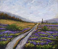 Lilac Lane Irish Art  Original  Framed  Canvas Painting Frames For Canvas Paintings, Irish Art, Framed Canvas, Lilac, I Shop, Country Roads, Landscape, The Originals, Travel