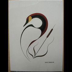Native Art, Native American Art, Goose Tattoo, Chee Chee, Haida Art, Goldwork, Wood Burning Art, Learn Art, Stained Glass Projects