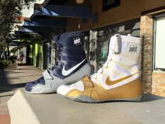 Nike Machomai 2.0 WhiteGold Boxing Shoes PRO FIGHT SHOP