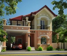 50 Best Inspiring Small Two Story House Design Ideas Two Story House Design, House Front Design, Design Your Dream House, Small House Design, Modern House Design, Small House Floor Plans, Modern House Plans, Modern Bungalow House, House Paint Exterior