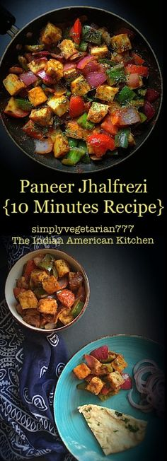 Paneer Jhalfrezi 10 Minutes Recipe is a quick version of delicious and popular restaurant style recipe. It is made with easily available ingredients and comes together in 10 minutes. It is that easy. You can make it vegan by using Extra Firm Tofu. Easy Paneer Recipes, Veg Recipes, Indian Food Recipes, Vegetarian Recipes, Cooking Recipes, Healthy Recipes, Vegetarian Platter, Bhaji Recipes, Gourmet