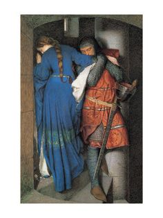 Meeting on the Turret Stairs Giclee Print by Frederick William Burton at AllPosters.com