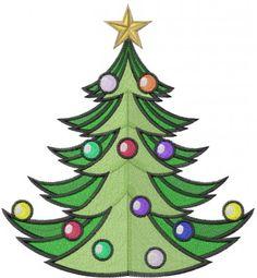 Christmas Tree Embroidery Design | AnnTheGran