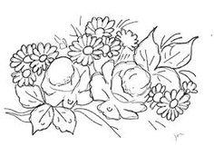 Hasil gambar untuk riscos de flores para pintura em tecido