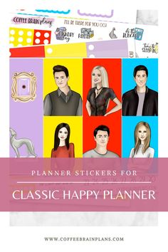 "Exclusive Friends ""I'll Be There for You"" kit for classic Happy Planner. Order individual sheets, or buy the whole kit to save! #friends #plannerstickers #happyplanner Cute Planner, Happy Planner, Get Happy, Job Opening, Happy Mail, Book Characters, Love Book, Go Shopping, Planner Stickers"