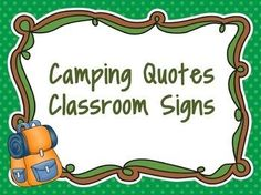Jazzing up your room with a camping theme this year?  These 4 signs are just the thing to add a little of that outdoor ambience.  Cute by themselves or framed on the wall.