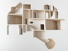 Olafur Eliasson's Your House book. Laser cut book that renders the artist's house at a scale of 85:1.