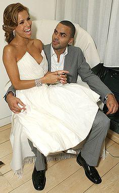 Eva Longoria short wedding dress themarriedapp.com hearted <3