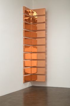Walead Beshty, Copper Surrogate x 48 ounce Copper Alloy, Bend, Sections: … ), 2015 Petzel Gallery Artistic Installation, Light Installation, Op Art, Wall Paper Phone, Environmental Art, Awesome Bedrooms, Wall Art Quotes, Minimalist Art, Wall Wallpaper
