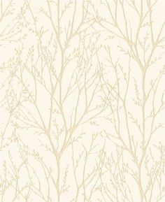 Twigs (31145) - Albany Wallpapers - A pretty all over twig design in gold on cream.  Available in other colours.  Please request sample for true colour match.