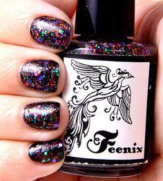 DIY halloween nails: DIY Halloween nail art : Feenix Halloween Party over SH Midnight