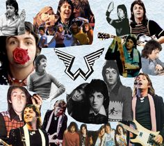 Paul McCartney and Wings collage