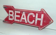 Beach Sign Nautical Coastal Decor Distressed by justbeachyshop, $29.50
