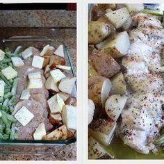 One Pan Chicken Dinner @keyingredient #chicken #italian