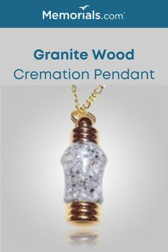 The Granite Wood Cremation Pendant can securely hold the ashes of your loved one. This Wooden Keepsake Pendant is hand made one at a time.