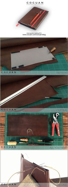 Moleskine cover making of www.cocuan.com