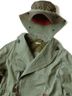 WEB SHOP - KAPITAL Boro, Military Jacket, Indigo, Raincoat, Menswear, Mens Fashion, Street Style, Detail, Men's Style