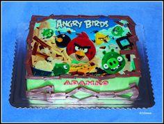 Angry Birds, Cake, Desserts, Tailgate Desserts, Deserts, Kuchen, Postres, Dessert, Torte