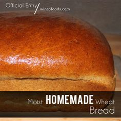 Moist Homemade Wheat Bread Recipe. Brown sugar, maple syrup...In out & out of the oven in just 35 minutes, yum!
