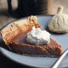 Homemade Pumpkin Pie from scratch. The texture and taste is always so much better when it's the real thing!