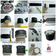 Pictorial on how to model a drum out of fondant. Enjoy!