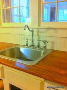 We made our wood countertops