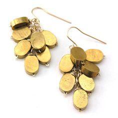 Cute gold earrings